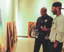 Alumni gallery exhibit sparks discussion