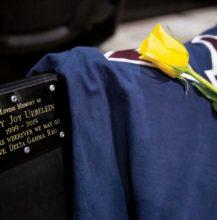 Delta Gamma Rho social club dedicates seat, honors Uebelein