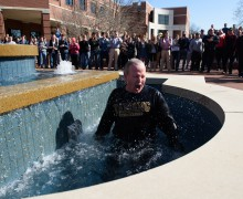 President plunges for Special Olympics Arkansas