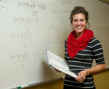 """The math department has truly cared and taught me that life is so much more than the degree…"""