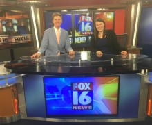 Broadcast journalism students appear on Fox 16