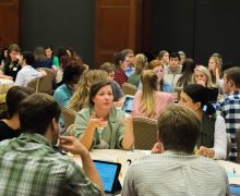 Health sciences students collaborate in a Night at the Round Tables