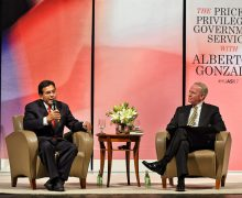 Former U.S. attorney general discusses 9/11 during ASI lecture series