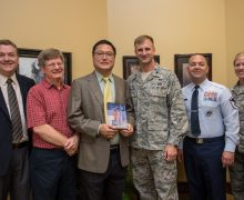 Charles Wu receives Air Force Salutes Award