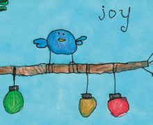 CrossPointe elementary student wins Christmas card contest