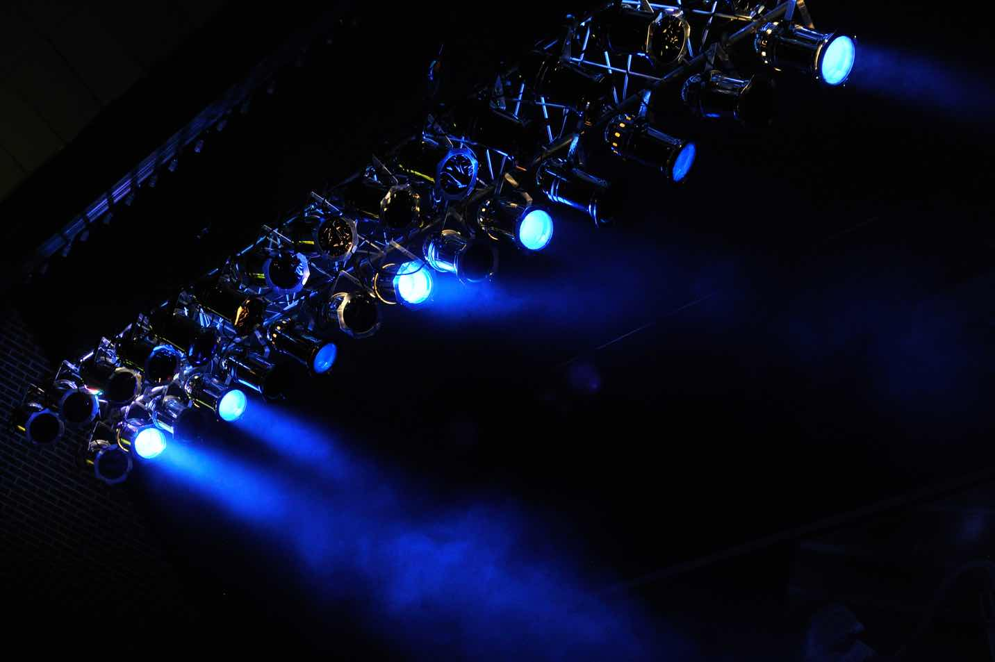 This is a photo of lights during Spring Sing.