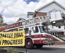 HU partners with first responders for emergency drill
