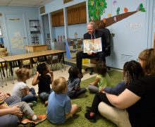 HU donates copies of former First Lady Laura Bush's children's book to local schools and libraries to commemorate visit to Searcy