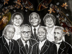 Artwork display portrays influential African Americans in the Churches of Christ
