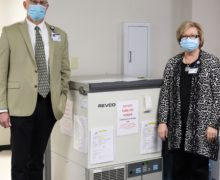 College of Sciences gifts ultra-low temperature freezer to Unity Health for COVID-19 vaccine storage
